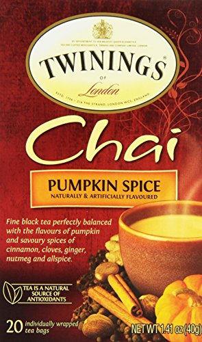 Twinings of London Pumpkin Spice Chai Tea Bags, 20 Count -