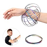 Magic Flow Rings Kinetic 3D Spring Stress Release Toy Game for Kids and Adults