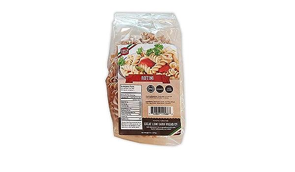 Great Low Carb Bread Company Rotini, 8Oz, baja en carbohidratos Pasta