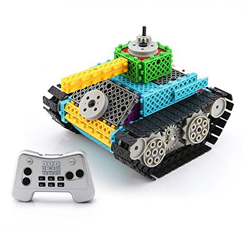 Remote Control Building Kit RC DIY Electric Tank Kids Toy Set 145PCS