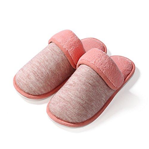 Fankou Accueil chaussons des couples prix plancher pendant le printemps et lautomne accueil Chaussons en coton non-slip hommes et faites glisser le mot ,18.5-20cm (29-31), Bleu
