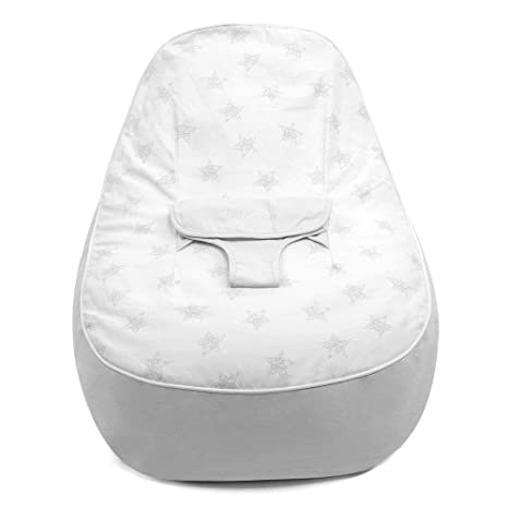 Magnificent Bambeano Support Grey Cotton Baby Bean Bag Chair For 0 6 Months One Size Squirreltailoven Fun Painted Chair Ideas Images Squirreltailovenorg