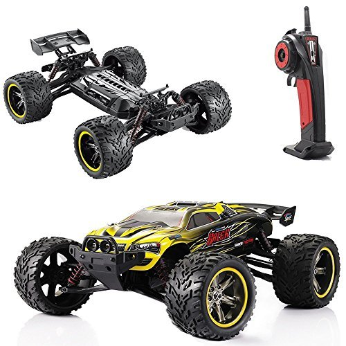 Max Costume Party City (GPTOYS RC Cars S912 LUCTAN 33MPH 1/12 Scale Electric Monster Hobby Truck With Waterproof Electronics, Remote Control Off Road Yellow Truggy Toys)