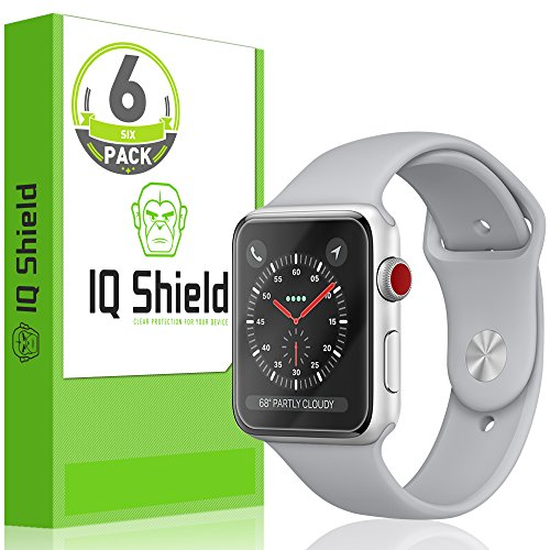 - IQ Shield Screen Protector Compatible with Apple Watch 38mm (Apple Watch Nike+, Series 3/2/1) [6-Pack][Ultimate] LiquidSkin Anti-Bubble Clear Film