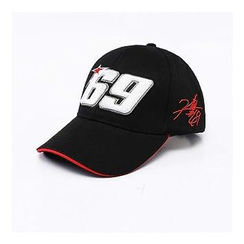 WOFDDH Gorra De Beisbol,Nuevo Negro Rojo 69 Gorra De Béisbol De ...