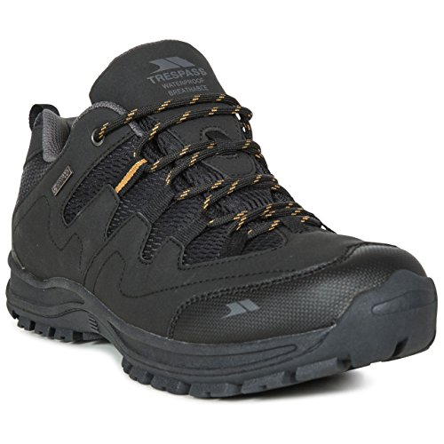 Hiking Men's Supportive Shoes Waterproof Trespass Black Finley 46 Low Cut gOZFq