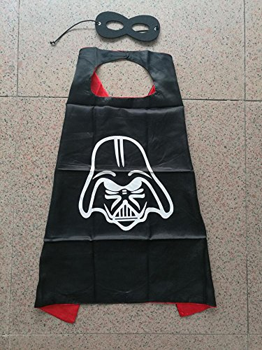 Superhero Halloween Party Cape and Mask Set for Kids 15+ Styles! (Darth Vader)