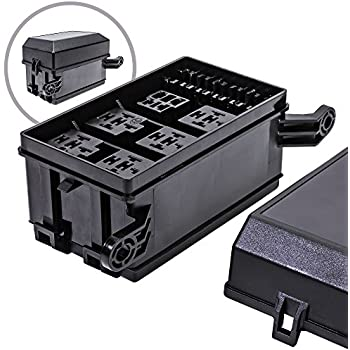 online led store 12-slot relay box [6 relays] [6 blade fuses