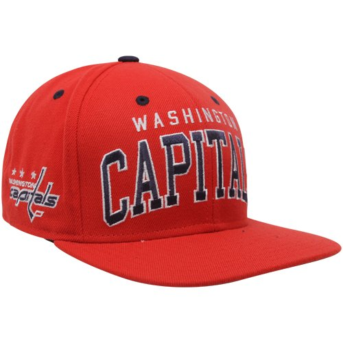 NHL Reebok Washington Capitals Red Retro Arch Logo Snapback Adjustable Hat