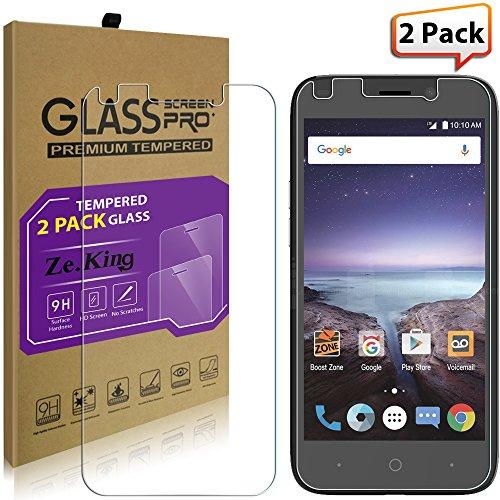 [2-Pack]ZTE Prestige 2/ZTE N9136/ZTE Z833 Tempered Glass, ZeKing 0 33mm  2 5D Edge 9H Hardness [Anti Scratch][Anti-Fingerprint] Bubble Free,  Lifetime