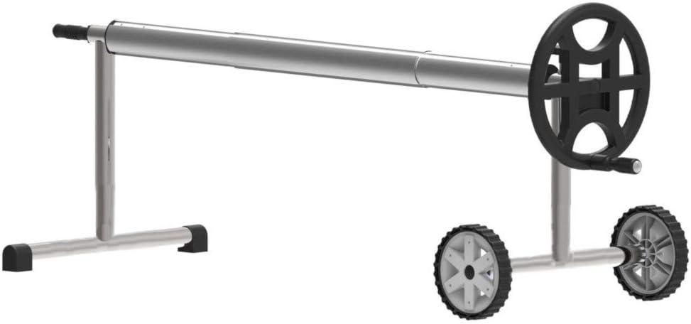 Telepiscinas Enrollador de Piscina para Manta térmica o cobertor Solar de Ancho: hasta 4,30 MT. Acero-Aluminio-PVC