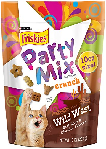 Friskies Party Mix Cat Treats, Wild West, Beef, Liver and Ch