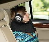 Ergonomic Contoured Memory Foam Travel, Neck & Cervical Pillow & Complimentary Pillow Carry Bag