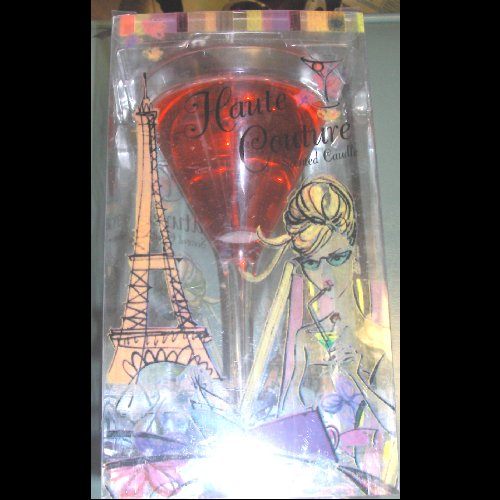 Gel Martini Glass Candle -Red - Candle Glass Gel Martini