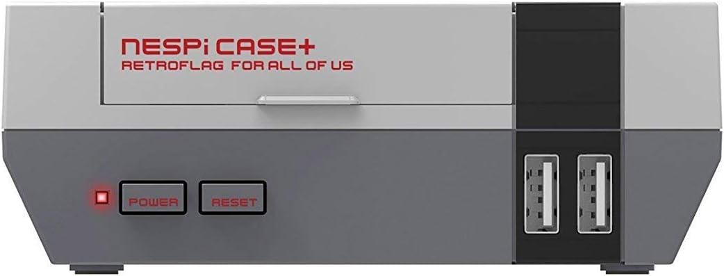 RETROFLAG Raspberry pi case NESPi Case Plus with Cooling Fan & Heat Sinks Safe Shutdown for Raspberry Pi 3 B+ (B Plus)