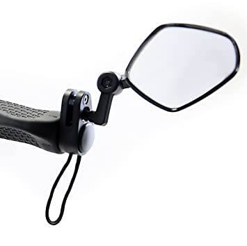 strida 5.0 vista posterior de espejo, negro