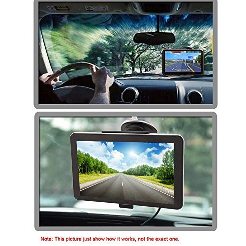 KKmoon 7'' Portable HD Touch Screen Car GPS Navigator 128MB RAM 4GB ROM FM MP3 Video Play Car Entertainment System with Handwriting Pen +Free Map Support GPS/Game/Ebook/USB/Flash