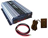VertaMax 3000 Watt (6000W surge) 12V Pure Sine Wave Power Inverter DC to AC Car, Solar, Off-Grid, RV (1/0 Cables + Remote Switch Included)