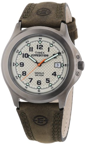 Timex T49953 Mens Expedition Metal Field Olive Strap - Expedition Timex Metal Mens