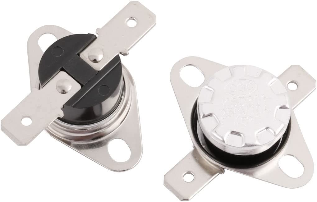 uxcell 2PCS KSD301 250V 10A 45C Thermostat Normally Closed NC Temperature Thermal Control Switch