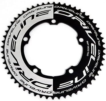 Driveline AL7075 - Cadena para Bicicleta de Carretera (56 T, BCD ...