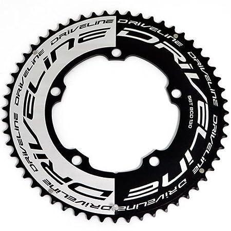 Black Driveline 69T AL7075 Road Bike Bicycle TT Chainring 69T BCD 110//130mm