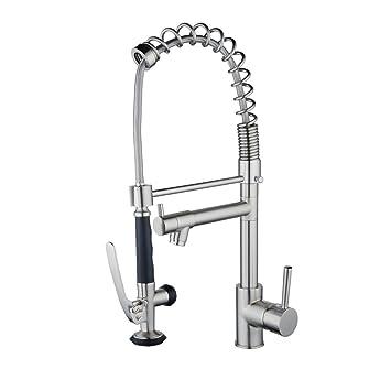 robinet de cuisine avec douchette bec pivotant a 360 mitigeur evier avec douchette extractible a