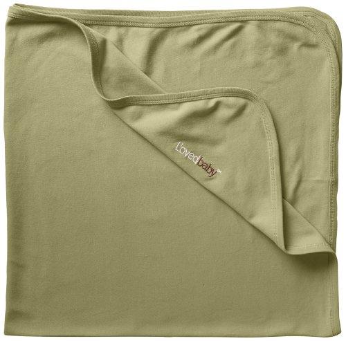 L'ovedbaby Unisex-Baby Newborn Organic Swaddling Blanket, Sage, one size (Nursery Sage)