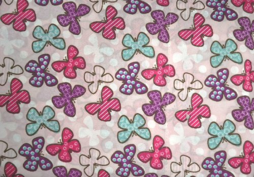 Twin 3-piece Colorful Butterflies and Pink Polka Dots She...