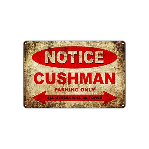 Cushman Motorcycles Bikes Only All Others Will Be Towed Parking Sign Vintage Retro Metal Decor Art Shop Man Cave Bar Aluminum 8x12 inch Sign Plate
