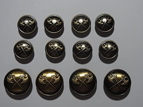 メタルボタンセット ブレザージャケットスーツセット 21mm4個15mm8個セット