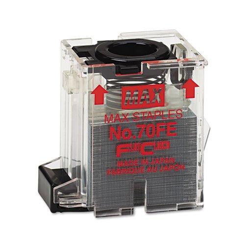 Max - Staple Cartridge for EH-70F Flat-Clinch Electric Stapler, 5,000/Box NO-70-FE (DMi BX