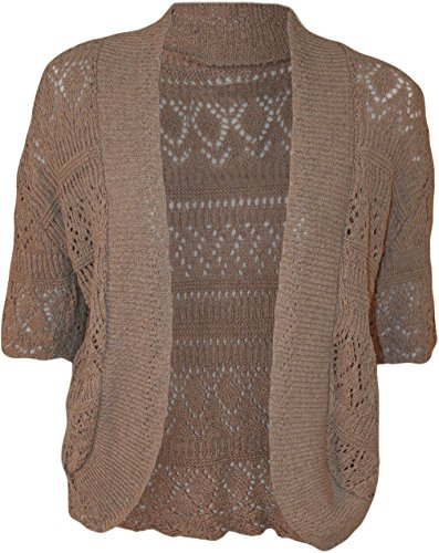 Forever Womens Plus Size Crochet Knitted Baggy Stretchy Shrug