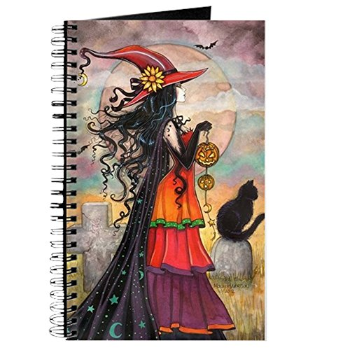 CafePress Witch Way Halloween Witch Art Spiral Bound Journal Notebook, Personal Diary, Lined