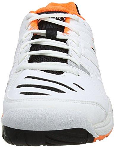 ASICS Gel-Challenger 10 - Zapatillas de deporte para hombre Blanco (White / Onyx / Flash Orange 199)