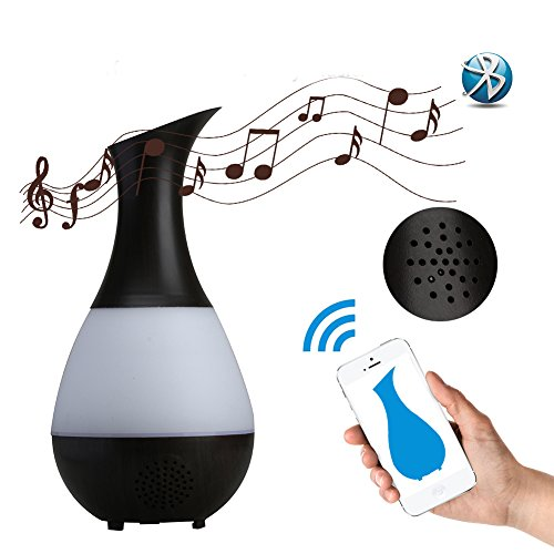 Kovoda Essential Oil Diffuser,Bluetooth Aroma Diffuser Portable Ultrasonic Cool Mist Humidifier with 7 Color LED Lights, Vase-Shaped Mist Mode Adjustment for Home, Office, Bedroom, 235ml