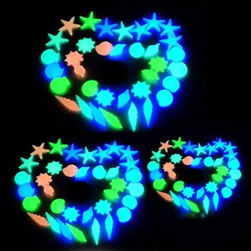 DEESEE(TM) 20 Pcs Glow In The Dark Stones Pebbles Rock For FISH TANK AQUARIUM Garden -