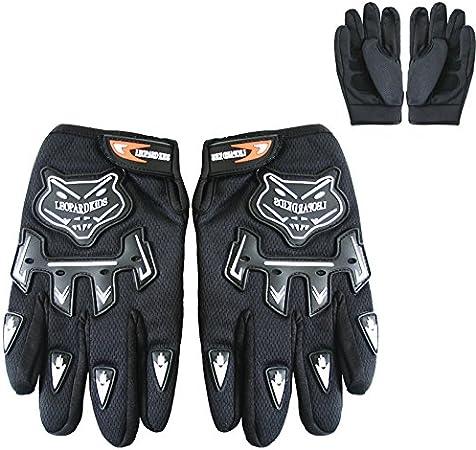 Leopard CUB Children Kids Motocross Motorbike Gloves Dirty Quad Bike ATV Karting Gloves 8CM Black XL