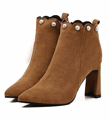 Match Skin Plus All High Winter Boots Thick Velvet And Boots Anti Female Boots Female Martin Tide British Brown Bare Style With Heeled KHSKX 7xRgR