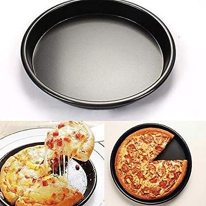Yunhigh pizza de aluminio bandeja para hornear pizza antiadherente redonda que sirve bandeja horno plato platos