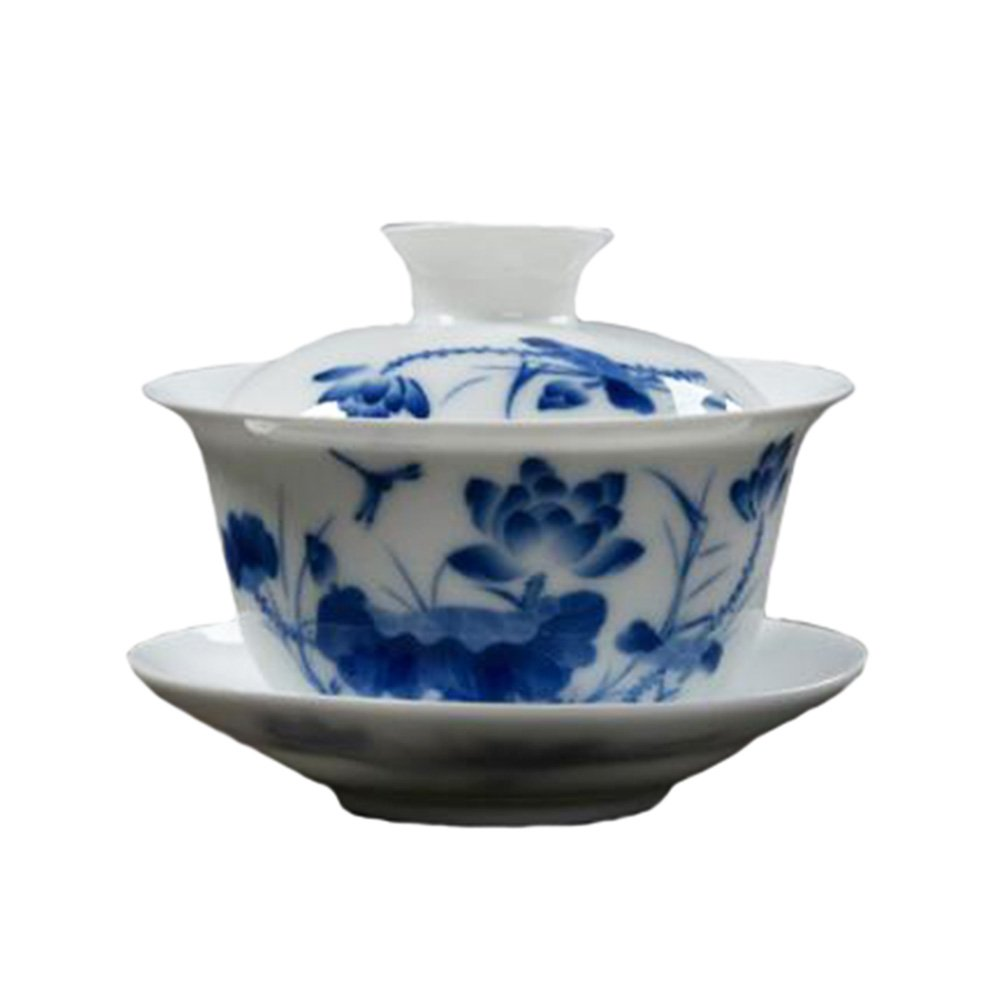 Blancho Chinese Ceramic Tea Cups With Lid Household Teacup Kung Fu Tea Set Teacups NO.02 Blancho Bedding