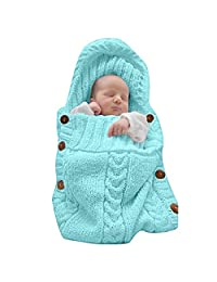 LANSHULAN  Newborn Baby Blanket Toddler Sleeping Bag Sleep Sack Stroller Wrap