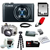Canon PowerShot S120 12.1 MP CMOS Digital Camera with 5x Optical Zoom and 1080p Full-HD Video W/ Canon Waterproof Case WP-DC51 for PowerShot S120 + 16GB Accessory Kit