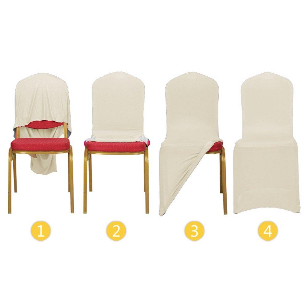 MCTECH® 10 Stück Schleifenband Stuhlbezüge Stuhlhussen Stretch ...