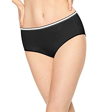 aa24a14726e Hanes Womens Cool Comfort Cotton Stretch Brief P8 (E840AS) -Assorted -6-