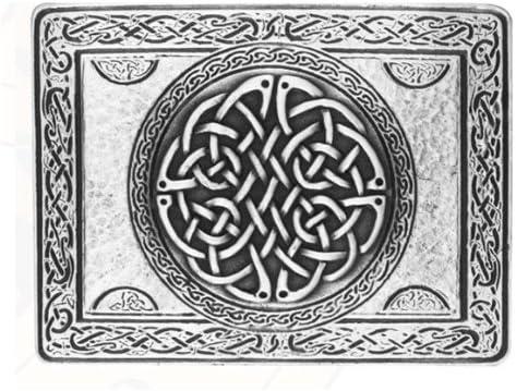 Wallace diseño de nudo Celta Rectangular chapado en plata ...
