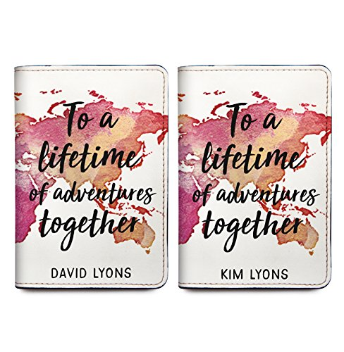 To A Lifetime Of Adventure Together - Couple Passport Wallet - Set of 2 by With Love From Julie