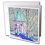 "Moscow Digital Photo Art - Chapel over the water spring. Divisionism Greeting Card is a great way to say ""thank you"" or to acknowledge any occasion. These blank cards are made of heavy-duty card stock that allows for smudge free writing. Cards are cr..."