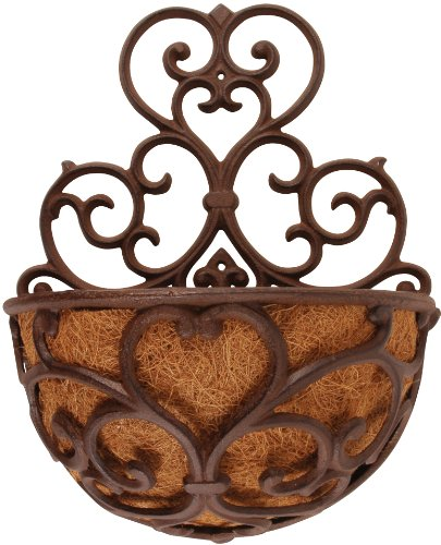 - Esschert Design USA BPH51 Half Round Cast Iron Wall Planter
