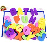 BATH LETTERS AND NUMBERS 36 Piece Set Foam Bath Alphabet...